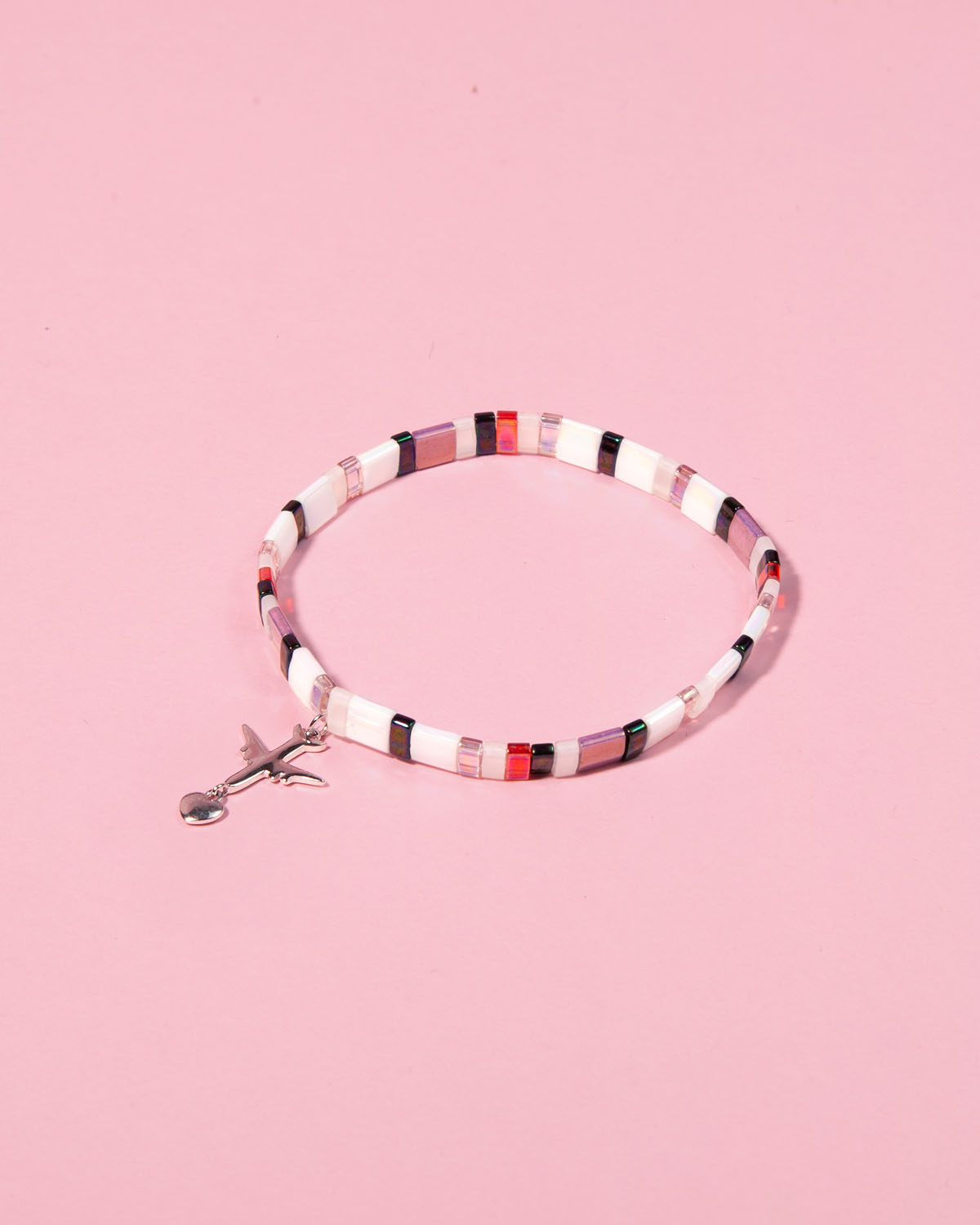 The Airplane Caramel Bracelet in Berry Merry