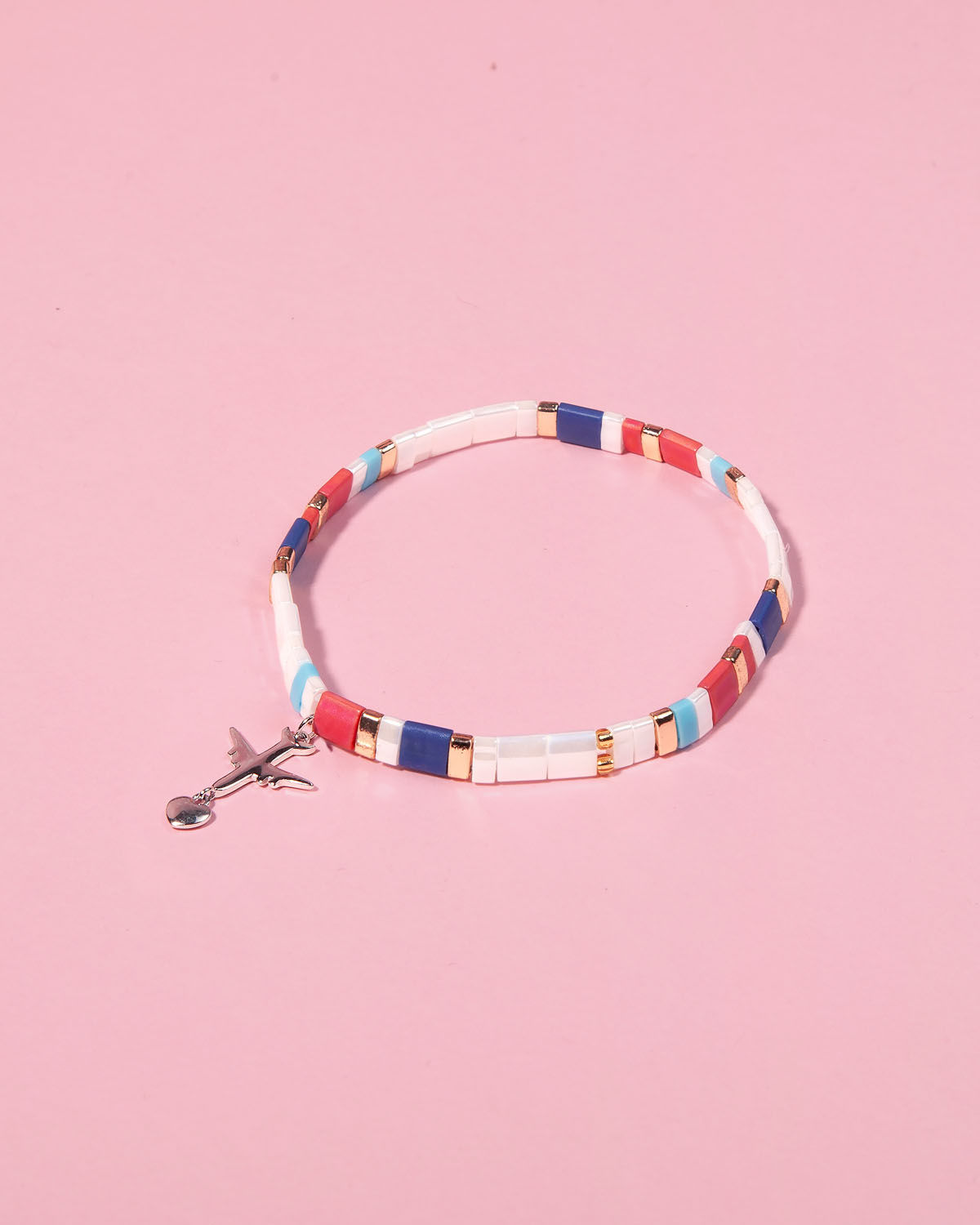 The Airplane Caramel Bracelet in Crispy Moonlight
