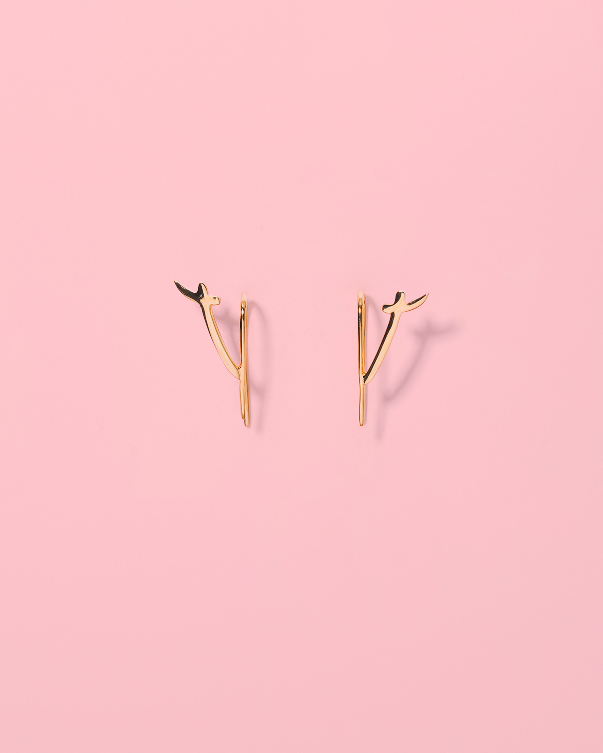 Wear it loud minimalistic <br>gold-plated studs