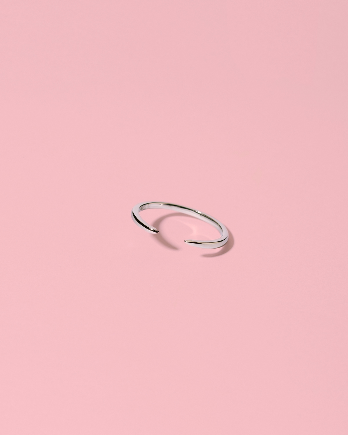 Superpower minimalistic <br>silver band