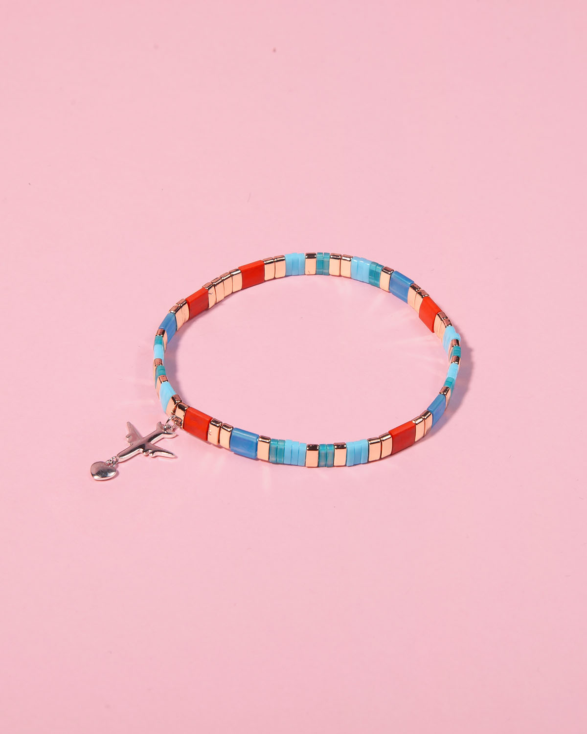 The Airplane Caramel Bracelet in Sky Azure